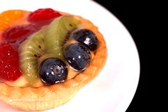 Tarte de fruit de la plaque blanche 5 Image stock
