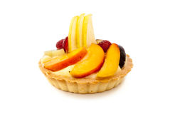 Tarte de fruit sur le fond blanc Photos stock