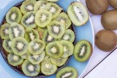 Tarte de kiwi Photographie stock libre de droits