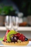 Tarte de la fruta de la cara 3 Fotografía de archivo