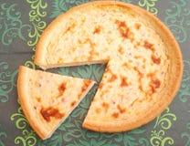 Tarte de lard et de fromage Photo libre de droits