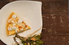 Tarte de meringue de citron Image libre de droits