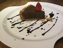 Tarte de mousse Gâteau de chocolat cru Image libre de droits