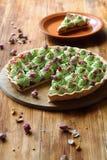 Tarte de pistache de fraisier commun Photos libres de droits