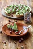 Tarte de pistache de fraisier commun Photographie stock libre de droits