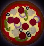 Tarte de pizza en bois photo libre de droits