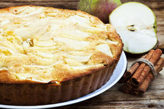 Tarte de poire Photo stock