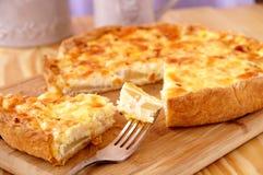 Tarte de poire avec du fromage Images libres de droits