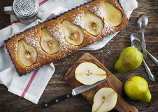 Tarte de poire et d'amande photo stock