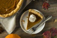 Tarte de potiron orange fait maison doux de thanksgiving photographie stock