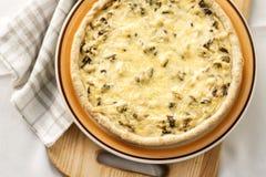 Tarte de poulet avec les champignons et le fromage Photo libre de droits