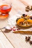 Tarte de pruneau d'abricot Photos libres de droits