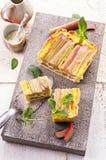 Tarte de rhubarbe Photographie stock libre de droits