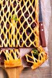 Tarte de trellis de pâte feuilletée de baie photo libre de droits