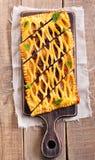 Tarte de trellis de pâtisserie de raisin sec et de cannelle photographie stock libre de droits