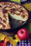 Tarte des pommes charlotte D'automne de nourriture toujours la vie Photographie stock