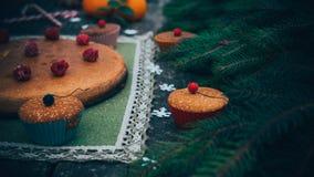 Tarte fait maison de Noël Images stock