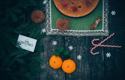 Tarte fait maison de Noël images libres de droits