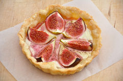 Tarte with figs. And cheese Royalty Free Stock Photography