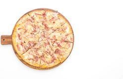 Tarte flambé pizza Stock Foto's