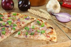 Tarte flambee Stock Photography