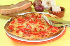 Tarte flambee Royalty Free Stock Images