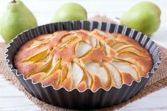 Tarte frais de poire, Autumn Fruit Tart délicieux image stock