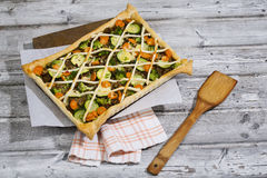 Tarte with minced meat and vegetables Royalty Free Stock Photos
