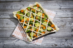 Tarte with minced meat and vegetables Royalty Free Stock Image