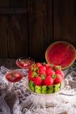 Tarte refroidi de pastèque photo libre de droits