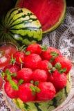Tarte refroidi de pastèque photo stock