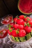 Tarte refroidi de pastèque photos libres de droits