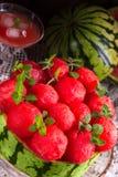 Tarte refroidi de pastèque photographie stock