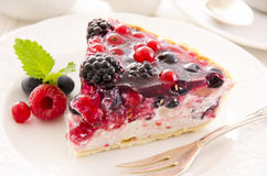 Tarte with Ricotta and Fresh Berries Royalty Free Stock Photography
