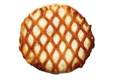 Tarte rond avec le fromage blanc Images libres de droits
