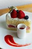 Tarte sablée de fraise Photographie stock libre de droits