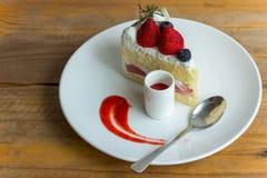 Tarte sablée de fraise Images stock