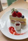 Tarte sablée de fraise Image stock