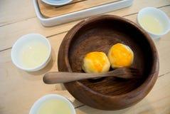 Tarte sablée de jaune d'oeuf Image libre de droits