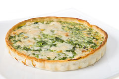 Tarte with spinach Stock Photo