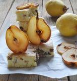 Tarte, tarte avec des poires Image stock
