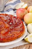 Tarte Tatin with apples Royalty Free Stock Images