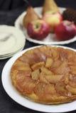 Tarte Tatin mit Äpfeln stockbild