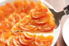 Tarte Tatin , Upside-down Apple Tart Royalty Free Stock Images