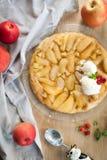 Tarte traditionnel d'automne - tatin français de tarte photo libre de droits