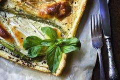 Tarte végétal rôti Quiche végétarienne délicieuse images libres de droits