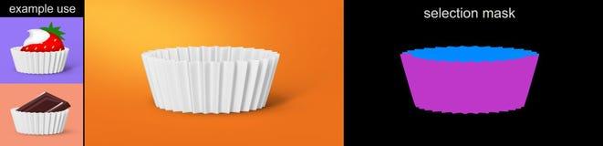 Tartelette de papier blanc Photos libres de droits