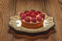 Tartelettes avec le dessert de baies avec un goût d'été photographie stock libre de droits