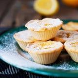 Tartelettes de citron avec du sucre en poudre Image stock