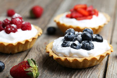 Tartelettes de dessert Images libres de droits